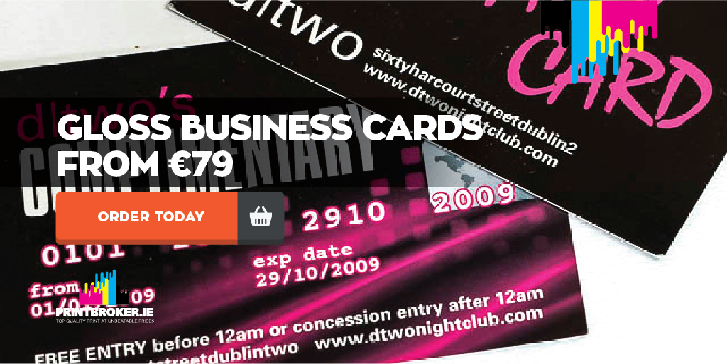 Business Cards Printing | 400gsm gloss cards from €79