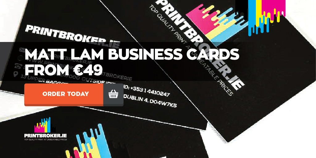 Business cards printing 400gsm matt lam cards from 49 reheart Images