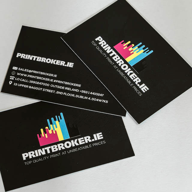 Business Cards printing on 400gsm full colour card with matt laminate finish both sides. Order you printed business cards with us today. Free delivery.